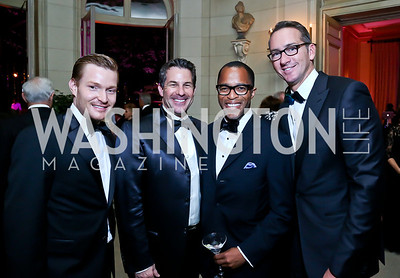 Nick Schmit, Jeremy Bernard, Jonathan Capehart, Hudson Young. Photo by Tony Powell. 45th Annual Meridian Ball. October 18, 2013