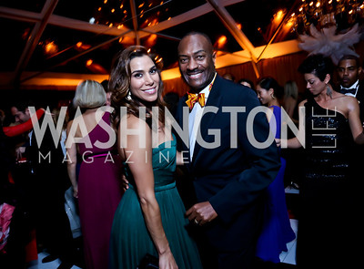 Reem Sadik, Reggie Van Lee. Photo by Tony Powell. 45th Annual Meridian Ball. October 18, 2013