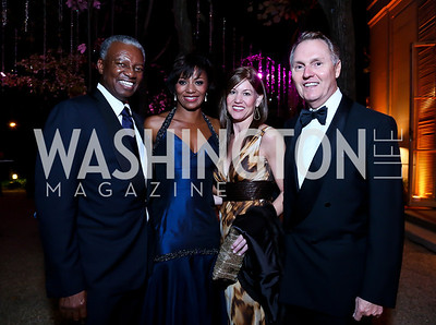 Art and Sela Collins, Kathryn Rand, Albert Knoll. Photo by Tony Powell. 45th Annual Meridian Ball. October 18, 2013
