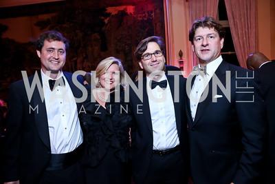 Thad Inge, Jeanne Hulit, Jason Furman, Lyndon Boozer. Photo by Tony Powell. 45th Annual Meridian Ball. October 18, 2013