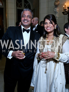 Rajeen and Seema Sharma. Photo by Tony Powell. 45th Annual Meridian Ball. October 18, 2013