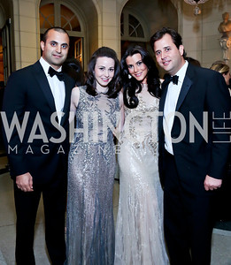 Brian Ali, Lauren and Jaclyn Mason, Johnnie Gogos. Photo by Tony Powell. 45th Annual Meridian Ball. October 18, 2013