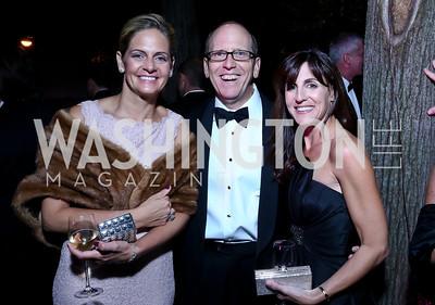 Kristen Olson, Jonathan Ledecky, Jenn Haber. Photo by Tony Powell. 45th Annual Meridian Ball. October 18, 2013