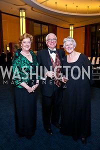 Harriet and Eric Fraunfelter, Norma Dugger. Photo by Tony Powell. 2013 Choral Arts Holiday Gala. Kennedy Center. December 16, 2013