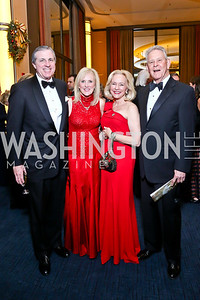 Bob and Laurie Monahan, Caroline Boutte and Peter Gallagher. Photo by Tony Powell. 2013 Choral Arts Holiday Gala. Kennedy Center. December 16, 2013