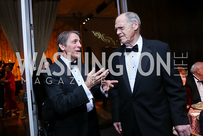 Conductor Scott Tucker, The Choral Arts Society of Washington Founder Norman Scribner. Photo by Tony Powell. 2013 Choral Arts Holiday Gala. Kennedy Center.JPG