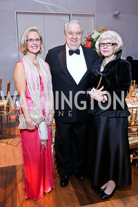 Board Chair Diane Schaefer, Russian Amb. Sergey and Natalia Kislyak. Photo by Tony Powell. 2013 Choral Arts Holiday Gala. Kennedy Center. December 16, 2013