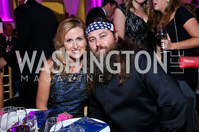 Duck Dynasty's Korie and Willie Robertson. Photo by Tony Powell. WL CCAI 2013 Angels in Adoption Gala. Reagan Building. October 9, 2013