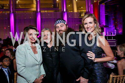 Leader Nancy Pelosi, Sen. Mary Landrieu, Duck Dynasty's Willie and Korie Robertson. Photo by Tony Powell. WL CCAI 2013 Angels in Adoption Gala. Reagan Building. October 9, 2013
