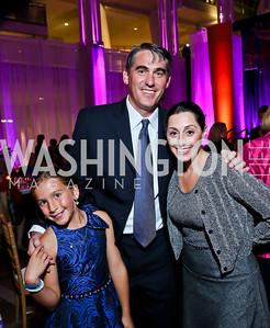 Grace and Matt Strottman, Lindsay Ellenbogen. Photo by Tony Powell. WL CCAI 2013 Angels in Adoption Gala. Reagan Building. October 9, 2013