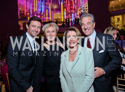 Deborra-Lee Furness and Hugh Jackman, Leader Nancy Pelosi and Paul Pelosi. Photo by Tony Powell. WL CCAI 2013 Angels in Adoption Gala. Reagan Building. October 9, 2013