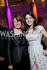 Senator Amy Klobuchar, Owner and Vice Chairman of the Board of the New Orleans Saints Rita Benson LeBlanc. Photo by Tony Powell. WL CCAI 2013 Angels in Adoption Gala. Reagan Building. October 9, 2013