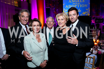 Paul Pelosi and Leader Nancy Pelosi, Sen. Roger Wicker, Deborra-Lee Furness and Hugh Jackman. Photo by Tony Powell. WL CCAI 2013 Angels in Adoption Gala. Reagan Building. October 9, 2013