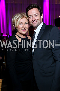 Deborra-Lee Furness and Hugh Jackman. Photo by Tony Powell. WL CCAI 2013 Angels in Adoption Gala. Reagan Building. October 9, 2013