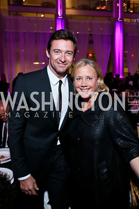 Hugh Jackman, Sen. Mary Landrieu. Photo by Tony Powell. WL CCAI 2013 Angels in Adoption Gala. Reagan Building. October 9, 2013