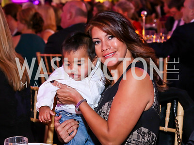 Matteo Clemente, Vicky Fthends. Photo by Tony Powell. WL CCAI 2013 Angels in Adoption Gala. Reagan Building. October 9, 2013