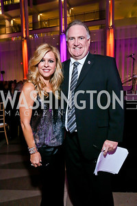 """Subjects of """"The Blind Side"""" Leigh Anne and Sean Touhy. Photo by Tony Powell. WL CCAI 2013 Angels in Adoption Gala. Reagan Building. October 9, 2013"""