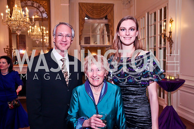 Alex Barth, Diana Spencer, Katie Bridges. Photo by Tony Powell. The FOCUS Gala honoring Malcolm Peabody. Washington Club. March 21, 2013