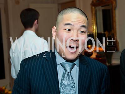 """Washington Post Sports Writer Gene Wang. Photo by Tony Powell. """"The Good Son"""", the Ray Mancini Story Film Screening. Marwood. January 31, 2013"""