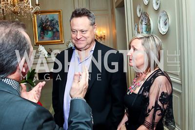 """Seth and Caroline Hurwitz. Photo by Tony Powell. """"The Good Son"""", the Ray Mancini Story Film Screening. Marwood. January 31, 2013"""