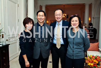 "Cynthia and Jeong Kim, Jim Kim and Youn Sook Lim. Photo by Tony Powell. ""The Good Son"", the Ray Mancini Story Film Screening. Marwood. January 31, 2013"