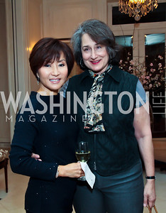 "Cynthia Kim, Judy Lerner. Photo by Tony Powell. ""The Good Son"", the Ray Mancini Story Film Screening. Marwood. January 31, 2013"