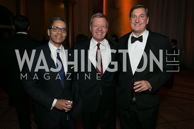 Bruce Siegel, Sen. Max Baucus, Mike Keller. Photo by Alfredo Flores. The Lab School Awards Gala.  National Building Museum. November 14, 2013.