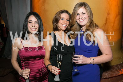 Courtney Heldman, Jennifer Goldman, Nicole Scifo. Photo by Alfredo Flores. Teach for America Gala Cocktail Event. The home of Deborah Lehr and John Rogers. November 13, 2013.