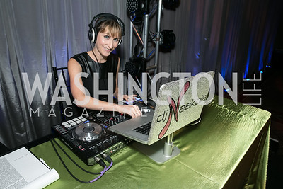 DJ Neekola. Photo by Alfredo Flores. The Lab School Awards Gala.  National Building Museum. November 14, 2013.