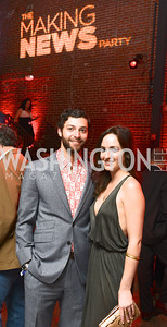 Max Kirschenbaum, Amanda Toles, National Journal, OurTime.org, and the Atlantic, sponsor The Making News Party at the Powerhouse in Georgetown.  Photo by Ben Droz.