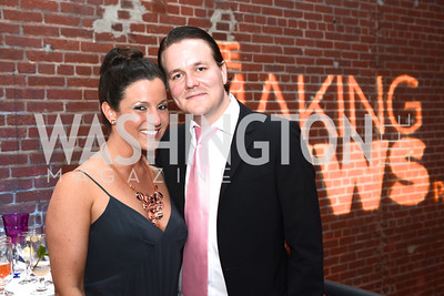Anna Chaley Croll, Viktor Josefsson, National Journal, OurTime.org, and the Atlantic, sponsor The Making News Party at the Powerhouse in Georgetown.  Photo by Ben Droz.
