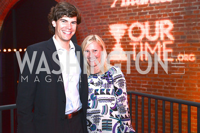 Andrew Behringer, Maggie Behringer, National Journal, OurTime.org, and the Atlantic, sponsor The Making News Party at the Powerhouse in Georgetown.  Photo by Ben Droz.