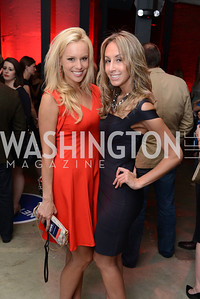Britt McHenry, Sarah Valerio, National Journal, OurTime.org, and the Atlantic, sponsor The Making News Party at the Powerhouse in Georgetown.  Photo by Ben Droz.