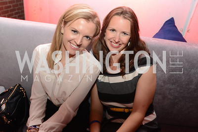 Margaret Lawrynowicz, Alissa Nonis, National Journal, OurTime.org, and the Atlantic, sponsor The Making News Party at the Powerhouse in Georgetown.  Photo by Ben Droz.