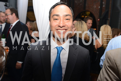 Congressman Joaquin Castro, National Journal, OurTime.org, and the Atlantic, sponsor The Making News Party at the Powerhouse in Georgetown.  Photo by Ben Droz.