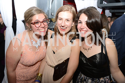 Emily Platt, Nicole Allan, Rachel Pfeffer, National Journal, OurTime.org, and the Atlantic, sponsor The Making News Party at the Powerhouse in Georgetown.  Photo by Ben Droz.