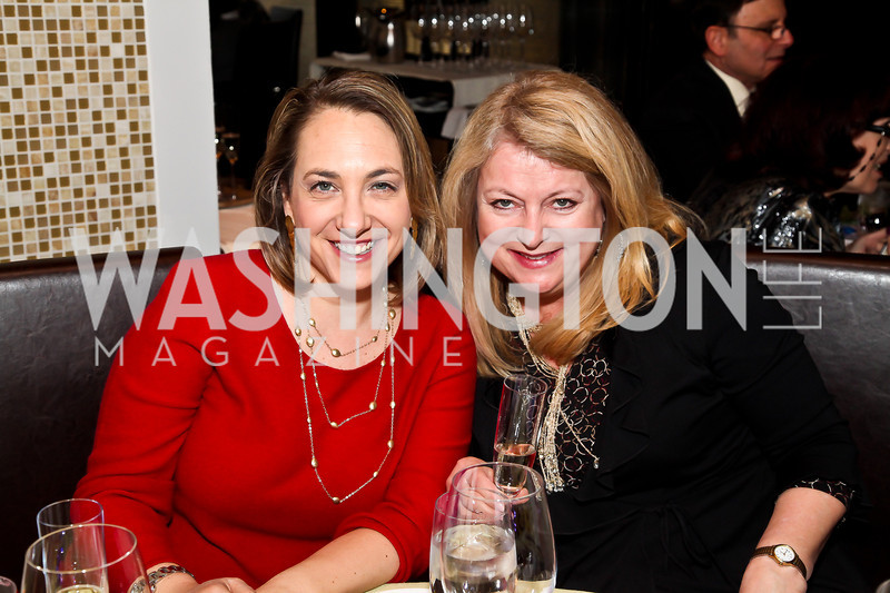 "Elise Labott, Denise Couture. Photo by Tony Powell. ""The New Jewish Table"" Passover Seder. Equinox. March 25, 2013"