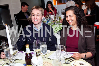 "Greg O'Neill, Anita Hattiangadi. Photo by Tony Powell. ""The New Jewish Table"" Passover Seder. Equinox. March 25, 2013"