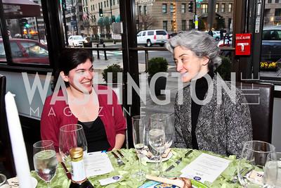 "Melinda Contreras, Marsha Dubrow. Photo by Tony Powell. ""The New Jewish Table"" Passover Seder. Equinox. March 25, 2013"