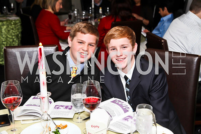 """Harrison Gray, James Dohlman. Photo by Tony Powell. """"The New Jewish Table"""" Passover Seder. Equinox. March 25, 2013"""