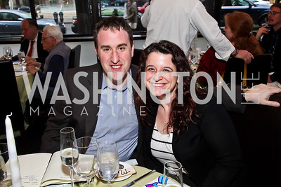 "David and Marni Gootzit. Photo by Tony Powell. ""The New Jewish Table"" Passover Seder. Equinox. March 25, 2013"