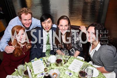 "Mackensie Burt, Richard Barry, Kim Vu, Jessica Zetzman, Jill Grozalsky. Photo by Tony Powell. ""The New Jewish Table"" Passover Seder. Equinox. March 25, 2013"