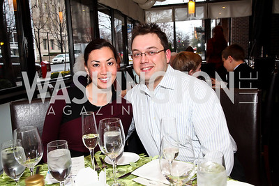 "Micky of http://whatmickyeats.blogspot.com, Keith Kudrycki. Photo by Tony Powell. ""The New Jewish Table"" Passover Seder. Equinox. March 25, 2013"