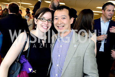Alissa Brammer, Lanon Baccam, The New Republic Office Opening Party.  Friday April 26. Photo by Ben Droz.