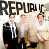 Sean Eldridge, Chris Hughes, Nancy Pelosi, The New Republic Office Opening Party.  Friday April 26. Photo by Ben Droz.