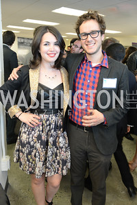 Ben Terris, Rachel Pfeffer Terris, The New Republic Office Opening Party.  Friday April 26. Photo by Ben Droz.