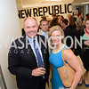 Patrick Wilson, Victoria Lion-Monroe, The New Republic Office Opening Party.  Friday April 26. Photo by Ben Droz.