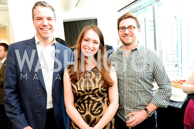 Chris Frates, Julia Ioffe, Adam Jentleson, The New Republic Office Opening Party.  Friday April 26. Photo by Ben Droz.