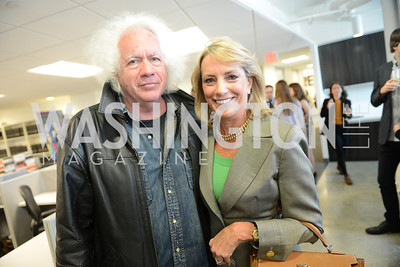 Leon Wieseltier, Elizabeth Frawley Bagley, The New Republic Office Opening Party.  Friday April 26. Photo by Ben Droz.
