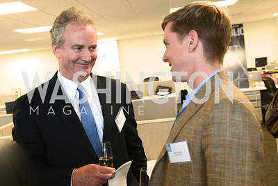 Congressman Chris Van Hollen, Chris Hughes, The New Republic Office Opening Party.  Friday April 26. Photo by Ben Droz.